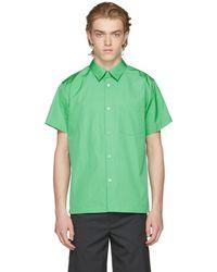 A.P.C. | Green Pocket Shirt | Lyst