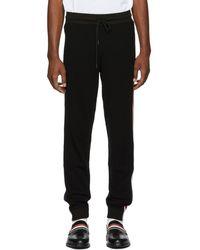 Moncler - Black Wool Lounge Pants - Lyst