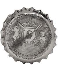 Alexander McQueen - Silver Cap Ring - Lyst