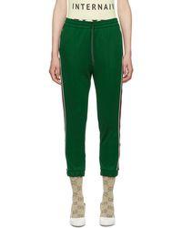 Gucci - Green Striped Lounge Pants - Lyst