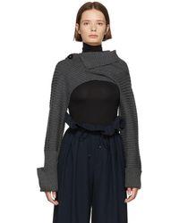 Enfold - Grey Lara Cropped Body Sweater - Lyst