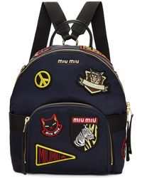 Miu Miu | Navy Patches Backpack | Lyst