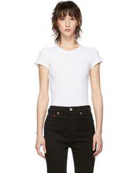 RE/DONE - White Originals Slim T-shirt Bodysuit - Lyst