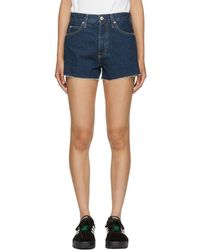AMO - Blue Denim Rosebowl Shorts - Lyst