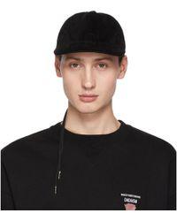 212e4211 Christian Dada - Black Corduroy Back Lace-up Cap - Lyst