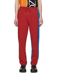 KENZO - Red And Blue Relax Lounge Pants - Lyst