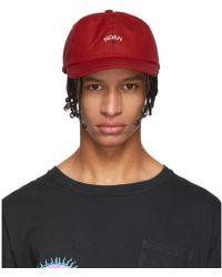 ddc005a9 Noah - Red Water-repellent Logo Cap - Lyst