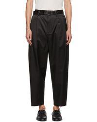 3.1 Phillip Lim - Black Relaxed Pleated Belt Trousers - Lyst