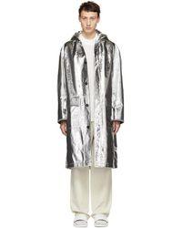 Jil Sander - Silver Reflective Randall Coat - Lyst
