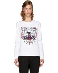 KENZO White Limited Edition Tiger Sweatshirt