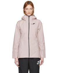 Nike - Pink Tech Shield Fabric Jacket - Lyst