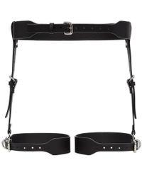 Fleet Ilya - Black Suspender Garter Harness Belt - Lyst