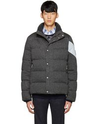 Moncler Gamme Bleu - Grey Quilted Down Jacket - Lyst