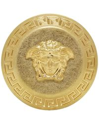 Versace - Gold Big Coin Ring - Lyst