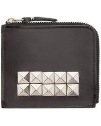 Comme des Garçons - Black Leather Studded Wallet - Lyst