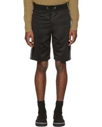 Givenchy - Black Reflective Bands Shorts - Lyst