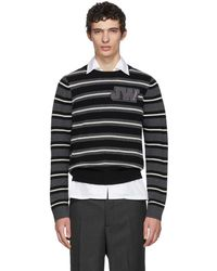 JW Anderson - Black And White Striped Logo Sweater - Lyst