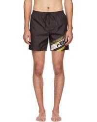 403fae7026090 Fendi - Black Mania Tech Swim Shorts - Lyst