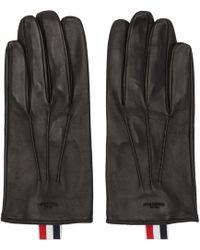 Thom Browne   Black Short Unlined Gloves   Lyst