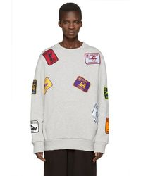 Palm Angels - Grey Kamasutra Patches Pullover - Lyst