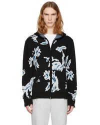 Baja East - Black Cashmere Bird Camouflage Hoodie - Lyst