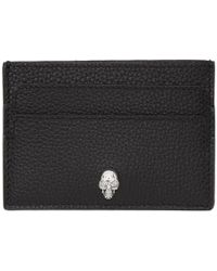 Alexander McQueen - Black And Silver Skull Card Holder - Lyst