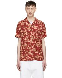 Levi's - Red And Yellow Lark Print Shirt - Lyst