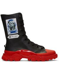 Raf Simons - Black And Red Adidas Originals Edition Detroit High Trainers - Lyst