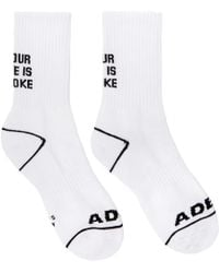 ADER error - White Your Life Is A Joke Socks - Lyst