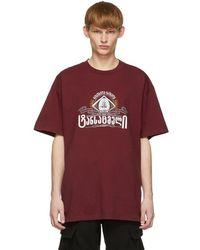 Vetements - T-shirt rouge Secret Society - Lyst