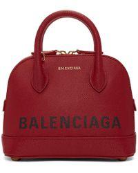 Balenciaga - Red Xxs Ville Top Handle Bag - Lyst