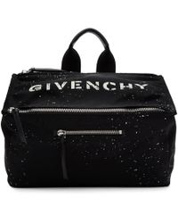 Givenchy - Black Stencil Pandora Messenger Bag - Lyst