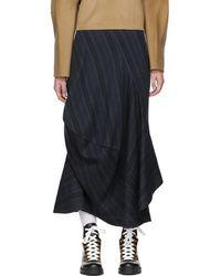 Acne Studios - Blue Suse Rustic Asymmetric Skirt - Lyst