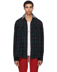 Fear Of God - Green Oversized Denim Collared Plaid Shirt - Lyst