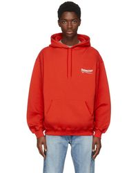 Balenciaga - Red Campaign Hoodie - Lyst