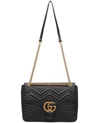 Gucci - Black Large Gg Marmont 2.0 Bag - Lyst