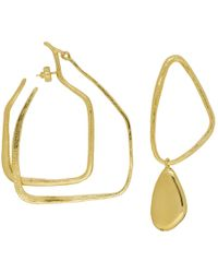 Givenchy - Gold Asymmetric Drop Earrings - Lyst