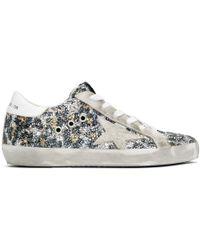 Golden Goose Deluxe Brand - Multicolor Glitter Superstar Sneakers - Lyst