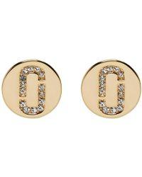 Marc Jacobs - Gold Stud Earrings - Lyst