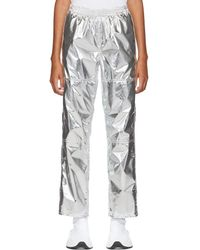 MM6 by Maison Martin Margiela - Silver Pull-on Lounge Pants - Lyst