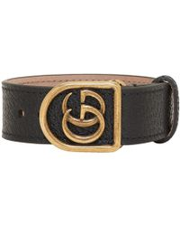 Gucci - Black Gg Marmont Bracelet - Lyst