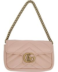 Gucci ピンク GG マーモント コイン ケース バッグ
