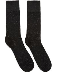 Issey Miyake - Black And White Bi-color Socks - Lyst