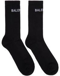 Balenciaga - Black Logo Tennis Socks - Lyst
