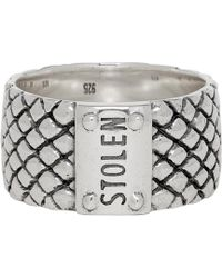 Stolen Girlfriends Club - Silver Wide Band Snake Ring - Lyst