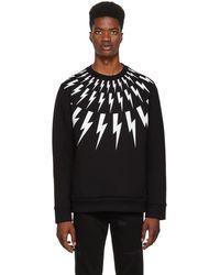 Neil Barrett - Black Lightning Bolt Sweatshirt - Lyst