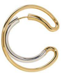 Charlotte Chesnais - Gold And Silver Single Large Ego Earring - Lyst