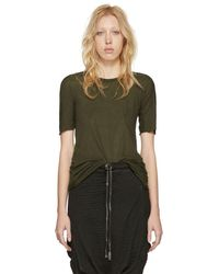 Boris Bidjan Saberi - Green Object Dyed T-shirt - Lyst