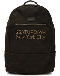 Saturdays NYC - Ssense Exclusive Brown Hannes Backpack - Lyst