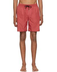 Burberry - Red Guildes Swim Shorts - Lyst